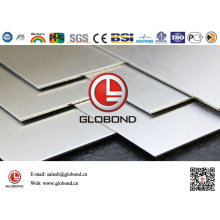 Globond Brushed Stainless Steel Sheet 037