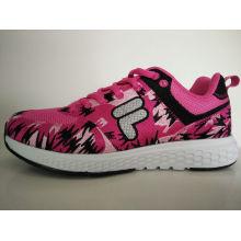 Junge Dame Cut Pink Print Komfort Laufschuhe