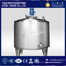 Vertical stainless steel mixing tank for chemical products