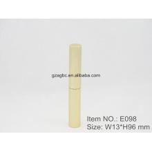 Delgado y moda con forma de bolígrafo de aluminio lápiz labial tubo E098, 8,5 mm, color de encargo del tamaño de la taza