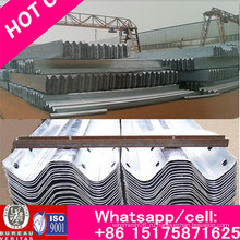 Гибкое металлическое дорожное ограждение, Дорожный барьер из оцинкованной стали с металлической балкой Q235, Барьер для дорожного движения