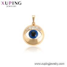 34113 xuping 18k bañado en oro del color del ojo malvado colgante de las mujeres