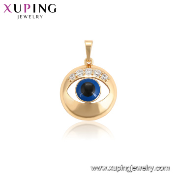 34113 xuping 18k gold plated color evil eye charms women pendant