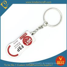 Benutzerdefinierte Billig Werbe 2D Emaille Metall Schlüsselbund (  LN-069)