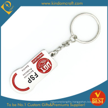 Custom Cheap Promotional 2D Enamel Metal Keychain (|LN-069)