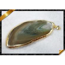 Großhandelsanhänger-Schmucksachen, Achat-Scheibe-Anhänger, Edelstein-hängende Halskette (YAD004)