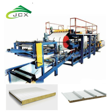 Brandsäker Rockwool Sandwich Panel Making Machine Line