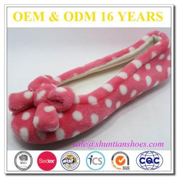 Niñas rosa bowknot linda bailarina estilo al por mayor zapatillas