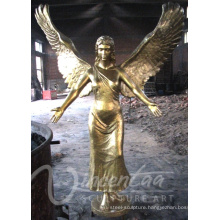 Plated metal crafts life size bronze angel statue for sale