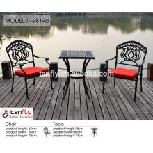 buena calidad mercado china ocio formas muebles de exterior de aluminio balcón jardín muebles de importación