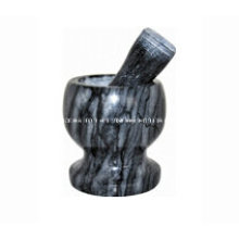 Mini mortier et mortier en pierre Taille 11X10cm