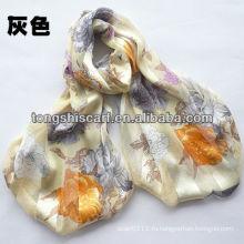 100% шелковый платок с печатанием цветка для повелительницы