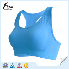 Tamanho livre rótulo privado cor azul Sports Bra Fitness Wear