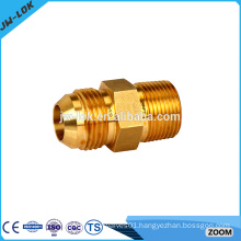High pressure hydraulic brass tube fitting reducer union