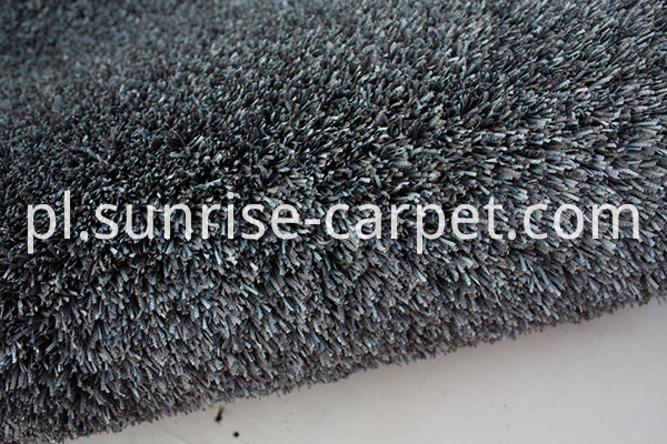 Fabric polyester gradational color floor carpet blue grey