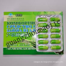 100 % reine natürliche Aloe schlank Gewicht Verlust weichen Gel-Kapsel (MJ151)