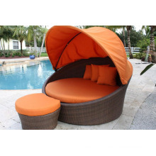 Outdoor Rattan Furniture Canopy Garden Wicker Patio Daybed