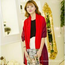 Gradiente cor lenço inverno clássico, lenço fábrica china