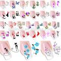Новая Вода Наклейки Молния Ногтей Наклейки,Временные Татуировки Для Ногтей