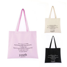 OEM ODM Simple Design Custom Logo Eco-Friendly Cotton Handbags Recycle Shopping Grocery Bags Canvas Tote Bag