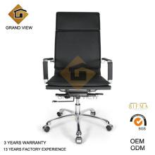 Cuir noir chaises dos élevé (GV-OC-H305)