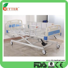 Lit d'hôpital électrique à trois fonctions de haute qualité