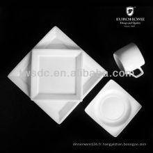 porcelaine d'hôtel ou de plat de plat de cuisson en céramique