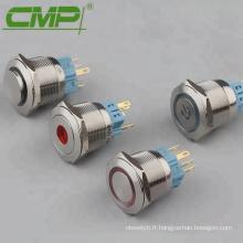 Commutateur lumineux à verrouillage 5v de 25 mm (2NO2NC)