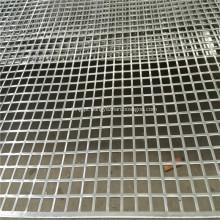 Malha perfurada de aço inoxidável do metal do furo quadrado