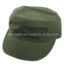 Gewaschene Stickerei Brim Binding Military Army Cap (TRM020)