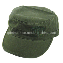 Washed Embroidery Brim Binding Military Army Cap (TRM020)