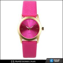 Reloj de cuero simple de la PU de la venda del reloj de la manera de las señoras