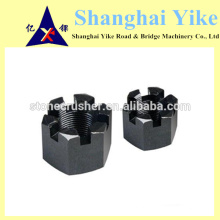 GB6180 hexágono ranhurado porca para máquina trituradora de mineração
