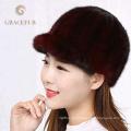 Bequeme Farben echte Nerz Hüte Hersteller Shop