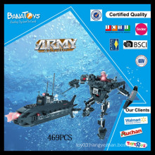 Special Offer! Educational electronic kits military toy diving ship building block toy