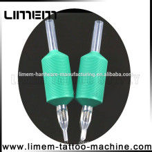 Best Sale Green 1 inch Silicone Tattoo Disposable Grip Rubber grip tube tattoo plastic grip Good Quality