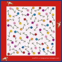 Последний шарф печати цветка способа