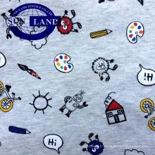 jersey de coton mélangé à 100% teint et imprimé