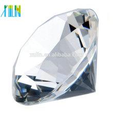 regalo de cristal personalizado diamante cristal claro para recuerdos de la boda