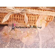 Accesorios de la boda Rose Flower Headband Guirnalda de pelo nupcial