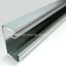 Construction en acier galvanisé en forme de profil de structure