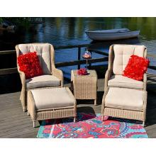 Patio jardín mimbre silla al aire libre muebles causales rota