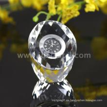 Crystal Cut Faces Vajilla de reloj transparente