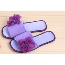 Zapatilla de interior, pantuflas de mujer con flor