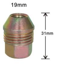 Open dual thread acorn lug nuts