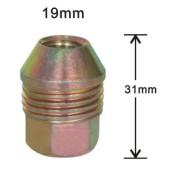 19mm short mag wheel cap brass nut