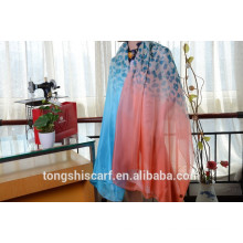 Latest fashionable leopards printed long shawl scarf and best selling zig-zag chiffon scarf