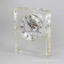 Relógio de parede redondo de alta qualidade com cristal