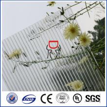 ПК прозрачный лист полости поликарбоната с УФ-защитой