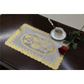 Size 30*46cm PVC Lace Gold Tablemat Waterproof Popular in Coffee/Home